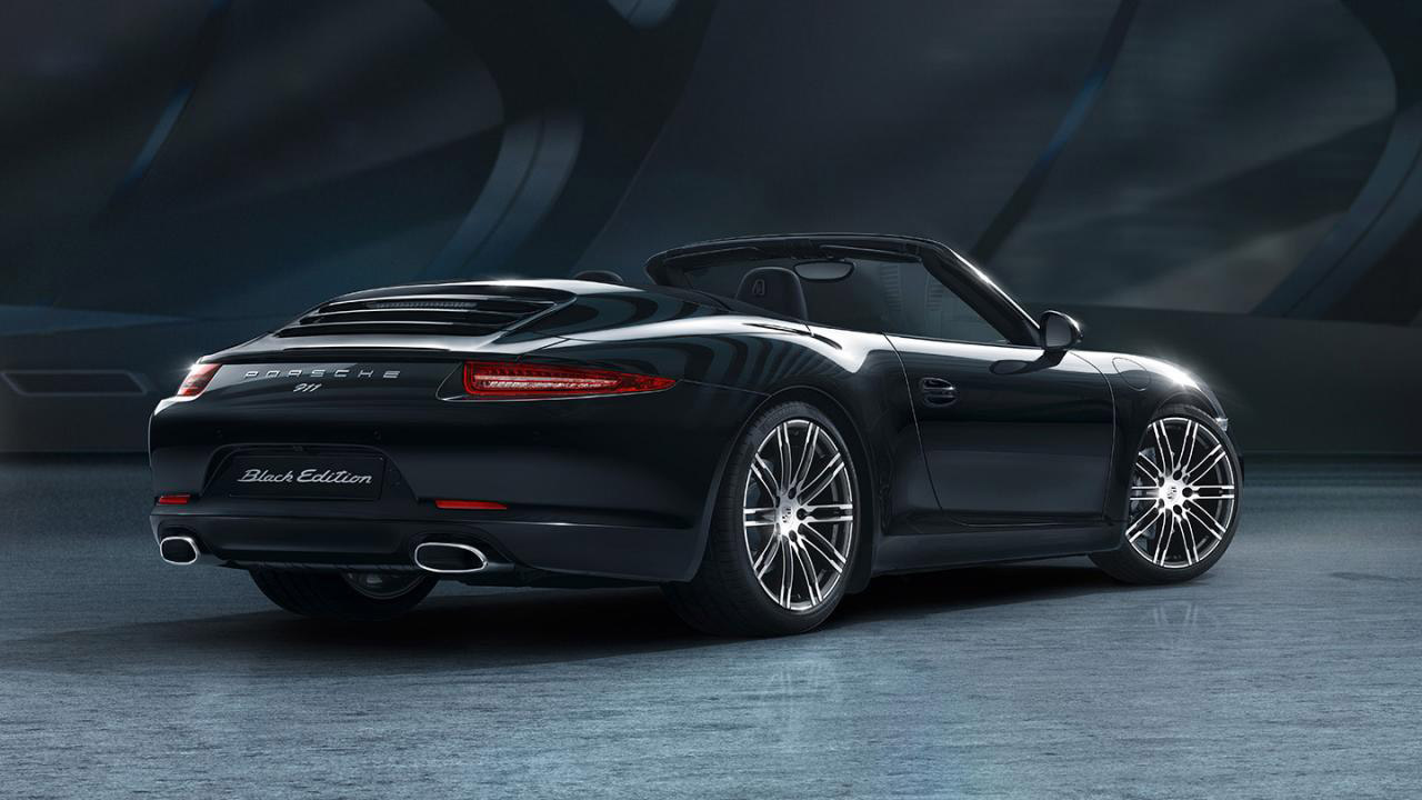 porsche boxster and 911 carrera black editions get detailed