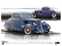 1934 Ford 3-Window Coupe EcoBoost Hot Rod, 1 of 3