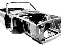 1967 Ford Mustang Convertible body shell, 1 of 3
