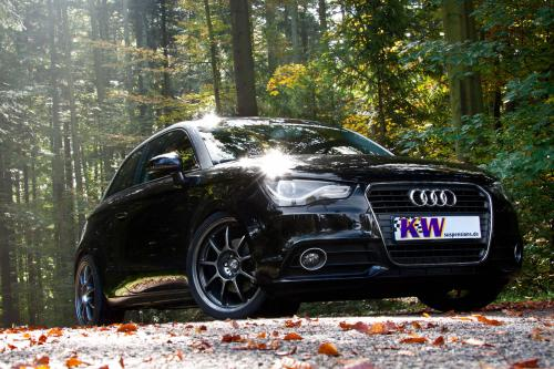 Audi A1 с KW coilover suspension kit