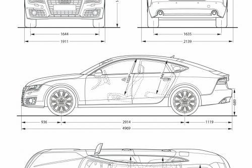 2011 Audi A7 Sportback, 1 of 55