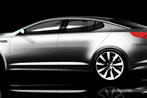 Kia Motors стала дразнить его следующего поколения Magentis 2011