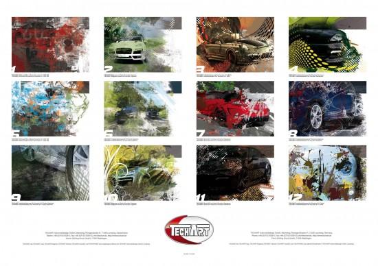 TECHART wall calendar
