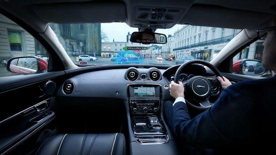 Jaguar Land Rover Urban Windscreen Follow-Me Ghost Car