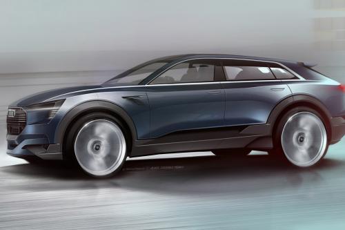 Audi электронной электронов концепция quattro показали с первых набросков. Дебютирует во Франкфурте