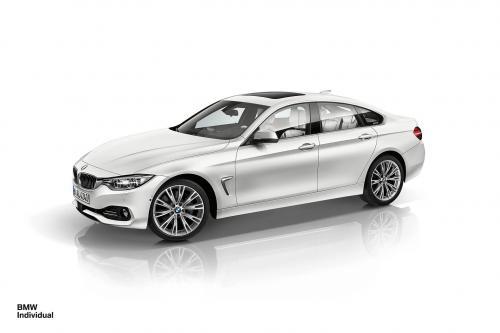 BMW индивидуальных открывает сpециальный 4-й серии Gran Coupe в замороженные блестящий белый