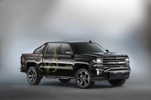 Автомобиль Chevrolet продемонстрировала концепт Сильверадо собиратель костей на SEMA