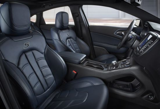 Chrysler 200 Ambassador Blue Leather interior
