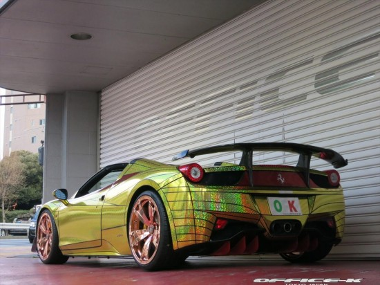 Ferrari 458 Spider Golden Shark