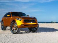 2015 Infiniti FX with 32-inch wheels, 7 of 8