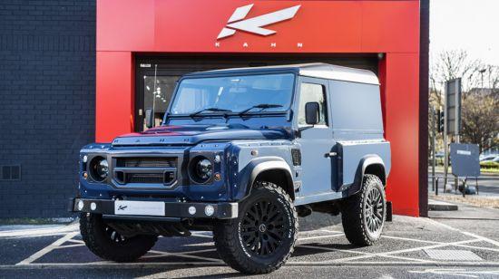 Kahn Land Rover Defender Hard Top CWT in Tamar Blue