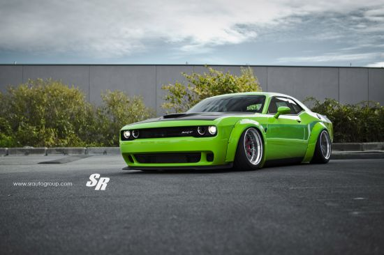 Liberty Walk Dodge Challenger Hellcat Green