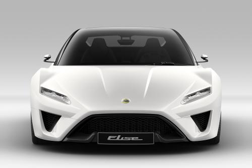 Lotus Elise в Париже на автосалоне. Фотографии автомобиля.
