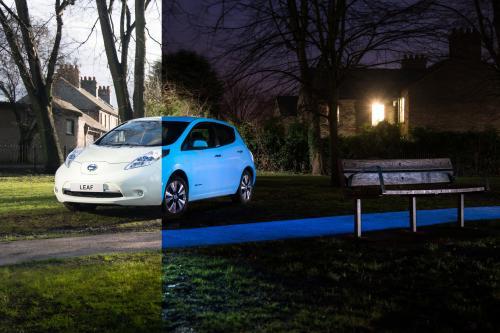 Ниссан изобретает электромобиль Leaf, который светится в темноте [видео]