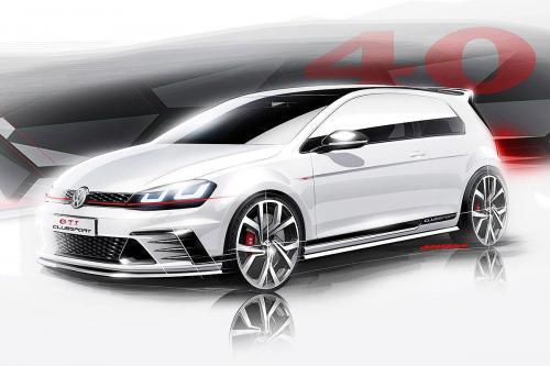 Volkswagen golf GTI clubsport концептуальные эскизы