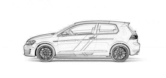 Volkswagen Golf GTI Performance one-off Sketches