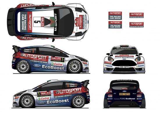 Ford Elfyn Evans M-Sport Fiesta RS WRC