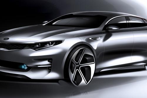 Kia Optima MidsizeSedan визуализация нового дизайна