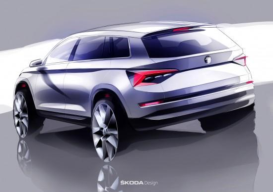 Skoda Kodiaq Sketches