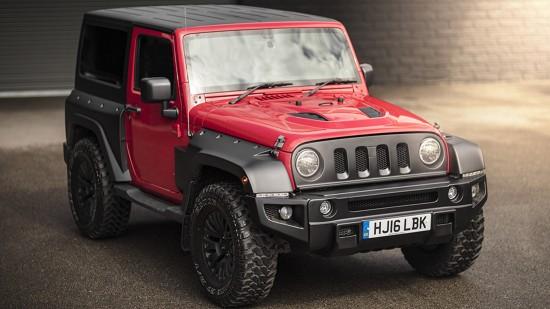 Firecracker Red Jeep Wrangler Sahara 3.6 Petrol Black Hawk Wide Track Edition