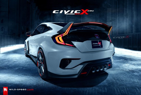 Honda Civic Coupe Type R Render