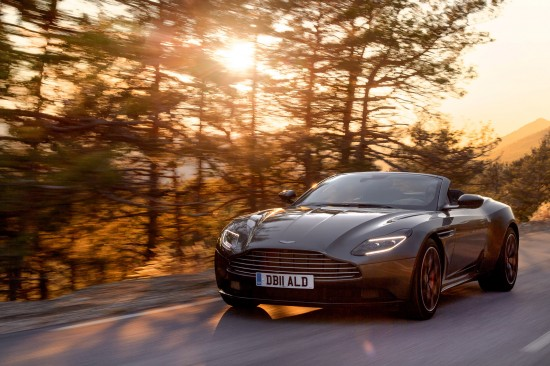 Aston Martin vehicles at Geneva Motor Show