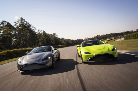 Aston Martin vehicles at Geneva Motor Show