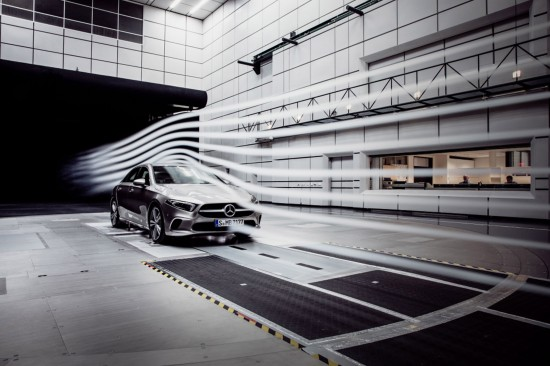 Mercedes-Benz A-Class aerodynamic tests