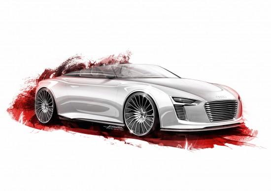 Audi e-tron Spyder sketches