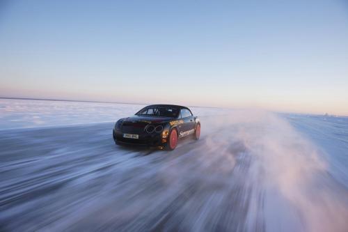 Bentley Continental Supersports - рекорд на льду