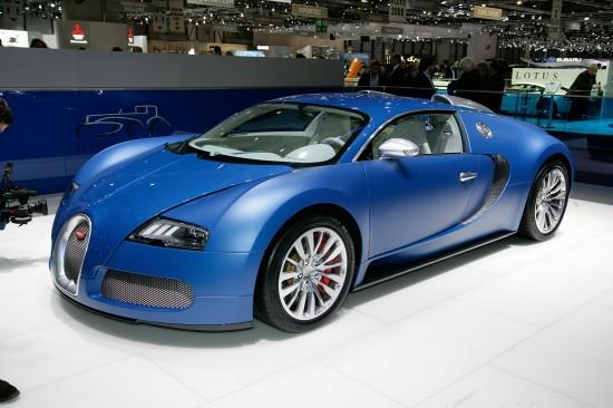 Bugatti Veyron Bleu Centenaire Geneva