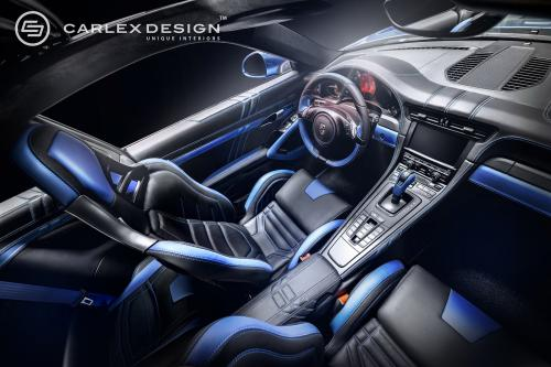 Порше 911 и Новый синий Электрический Carlex дизайн