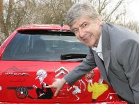 Arsene Wenger Unveils A Unique Citroen C4 Arsenal Fan's Car Designed By Gerald Scarfe In AID Of Teenage Cancer Trust