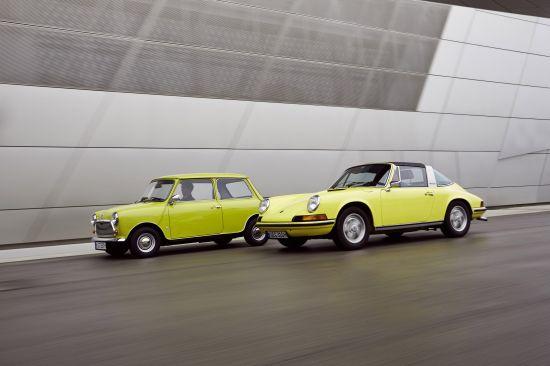 Classic MINI and Porsche 911