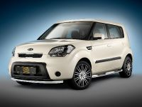 Kia Soul with Cobra CITYGUARD with LED daytime running lights, rocker panel guards with integrated steps and Mauris 8Jx19 wheels