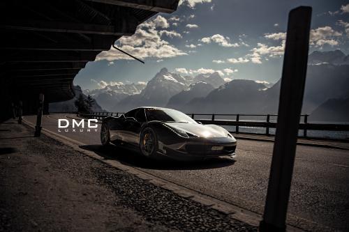 """ДМЦ Феррари 458 Italia в \""""Элеганте\"""" в швейцарских Альпах"""