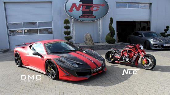 DMC Ferrari 458 Italia Estremo and The Twin Bike