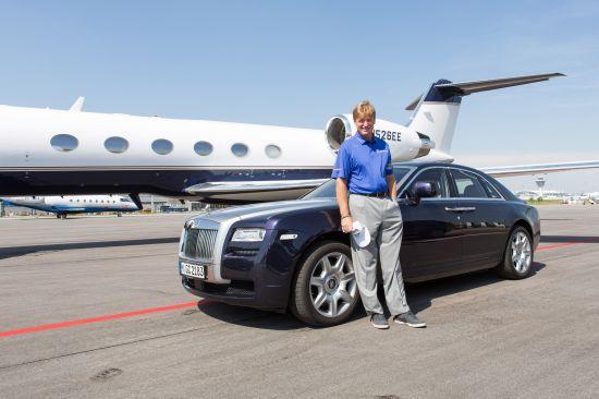 Ernie Els and Rolls-Royce Ghost