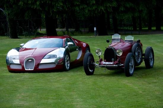 Bugatti Veyrons and Type 35 Grand Prix