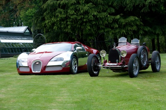 Bugatti Veyrons and Type 35 Grand Prix