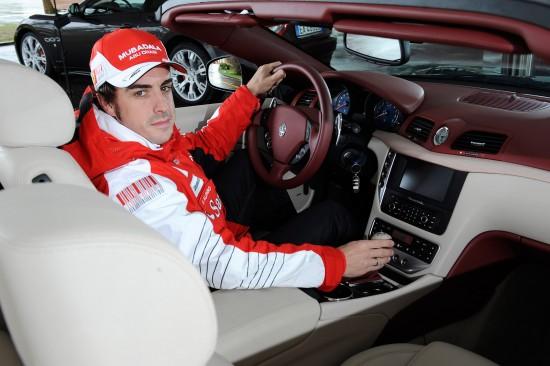 Fernando Alonso and Maserati GranCabrio