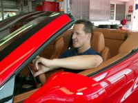Michael Schumacher working on the Ferrari California at the Fiorano track
