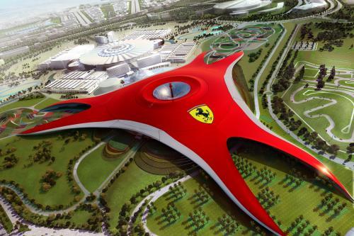 Ferrari World в Абу-Даби, - приводит пространство к вашему лицу