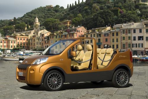 Портофино-шоу фургон Fiat Fiorino преобразования для прогулочного транспорта показывает
