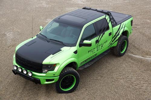 GeigerCars броской зеленой Форд F-150 SVT Хищник зверь издание