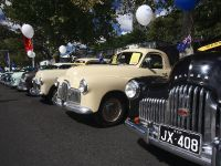 A row of Holden 48-215s from the front at NRMA Motorfest 2008