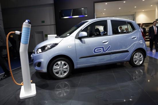 Hyundai i10 Blue ev Frankfurt