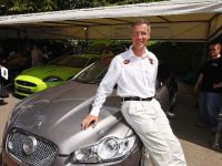 Andy Green with the Jaguar XFR Prototype