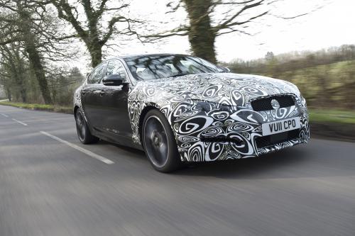 Jaguar XF diesel [spy]