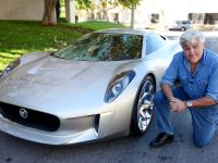 Jay Leno and Jaguar C-X75 Concept, 2 of 16